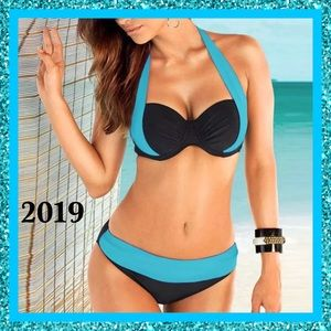 Other - BNWT-2019- Sexy Black With Teal Trim 2 Piece